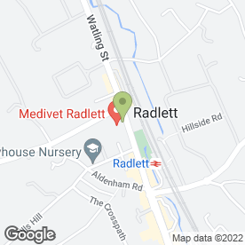 Map of Medivet Radlett in Radlett, hertfordshire