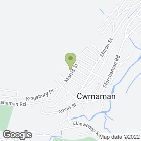 Map of CWMAMAN CARE CENTRE in Cwmaman, Aberdare, mid glamorgan