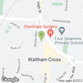Map of Rona Sewing Machines in Waltham Cross, hertfordshire