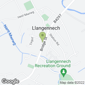 Map of The Old Bridge Inn in Llangennech, Llanelli, dyfed