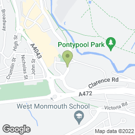 Map of Tanners of Newport in Pontypool, gwent
