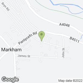 Map of C.R Carpentry in Markham, Blackwood, gwent