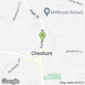 Map of Dobsons Beautiful Homes - Inside & Out in Cheshunt, WALTHAM CROSS, hertfordshire