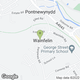 Map of Supreme Blinds in Wainfelin, Pontypool, gwent