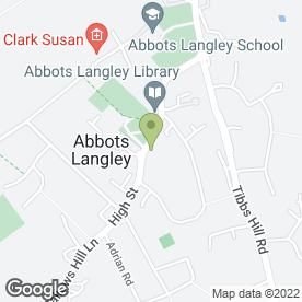 Map of Pin Wei Restaurant in Abbots Langley, hertfordshire