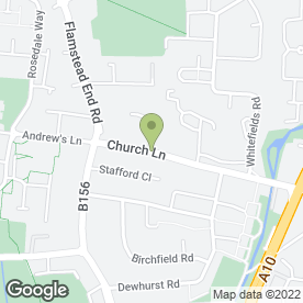 Map of Flamstead End P.O in Cheshunt, Waltham Cross, hertfordshire
