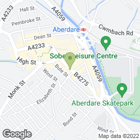 Map of Baguette Express in Aberdare, mid glamorgan