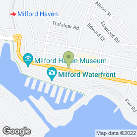 Map of HSBC Bank plc in Milford Haven, dyfed