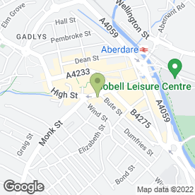 Map of E.B Deliveries Ltd in Aberdare, mid glamorgan