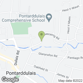 Map of The Foot Clinic in Pontarddulais, Swansea, west glamorgan