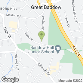 Map of Baddow Plumbing in Chelmsford, essex