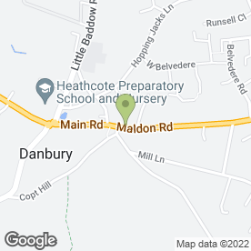 Map of Aspen Carpets & Flooring Ltd in Danbury, Chelmsford, essex