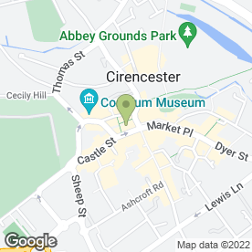Map of 17 Black in Cirencester, gloucestershire