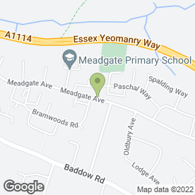 Map of J Moore Scaffolding Ltd in Chelmsford, essex