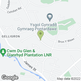 Map of Rhian Jones Mobile Beauty Therapist in Pontardawe, Swansea, west glamorgan