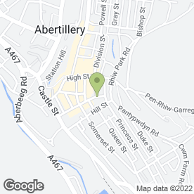 Map of Dr K Hastings in Abertillery, gwent