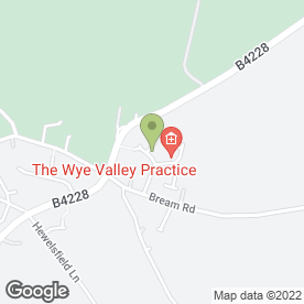 Map of The Wye Valley Practice in St. Briavels, Lydney, gloucestershire