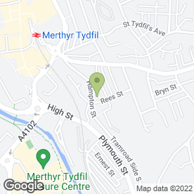 Map of Mobile Anti-Wrinkle Treatments in Merthyr Tydfil, mid glamorgan