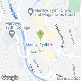 Map of Stead & Simpsons in Merthyr Tydfil, mid glamorgan