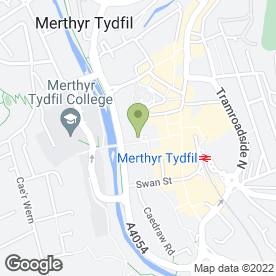 Map of Greggs in Merthyr Tydfil, mid glamorgan