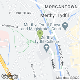 Map of Dr M.J Davies in Merthyr Tydfil, mid glamorgan
