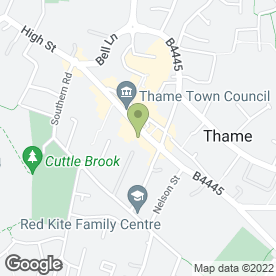 Map of Black Horse Hotel in Thame, oxfordshire
