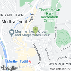 Map of MBS Ltd in Merthyr Tydfil, mid glamorgan