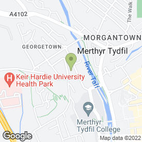 Map of Merthyr Glass & Glazing in Merthyr Tydfil, mid glamorgan