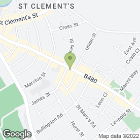 Map of KFC in Oxford, oxfordshire
