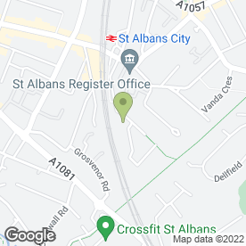 Map of St. George Driving School in St. Albans, hertfordshire