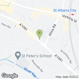 Map of St. Albans Service Station in St. Albans, hertfordshire