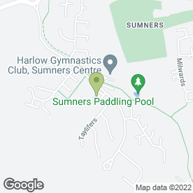 Map of Sumners Leisure Centre in Harlow, essex