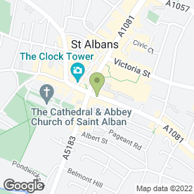 Map of RISE RECRUITMENT in St. Albans, hertfordshire