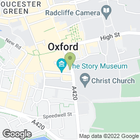 Map of TAO BEAUTY SALON in Oxford, oxfordshire