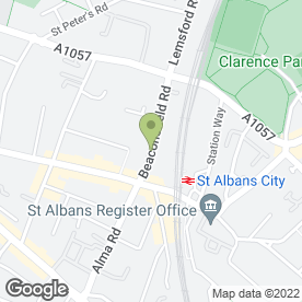 Map of Maya Pan-Asian Indain & Thai Restaurant & Takeaway in St. Albans, hertfordshire