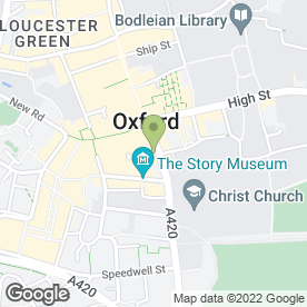 Map of St. Aldates Anglican Church of Oxford in Oxford, oxfordshire