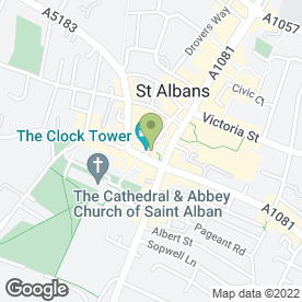 Map of The Boot Inn in St. Albans, hertfordshire