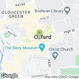 Map of Eat in Oxford, oxfordshire