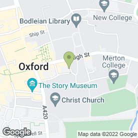 Map of Oliver James in Oxford, oxfordshire