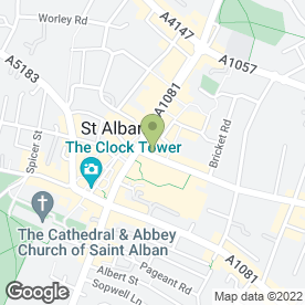 Map of Halls in St. Albans, hertfordshire