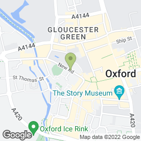 Map of Malmaison Hotel in Oxford, oxfordshire