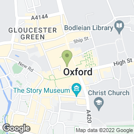 Map of Ernest Jones in Oxford, oxfordshire