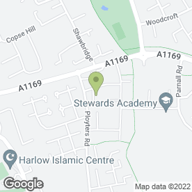 Map of Cornerstone Print Ltd in Harlow, essex