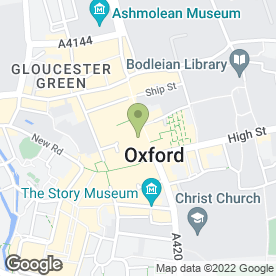 Map of McDonald's Restaurants Ltd in Oxford, oxfordshire