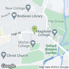 Map of Examination Schools in Oxford, oxfordshire