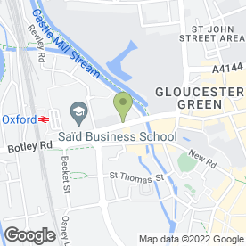 Map of Oxford Backpackers in Oxford, oxfordshire