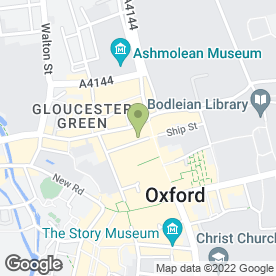Map of The Nosebag Restaurant Ltd, in Oxford, oxfordshire