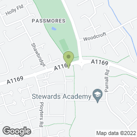 Map of Lister Medical Centre in Harlow, essex