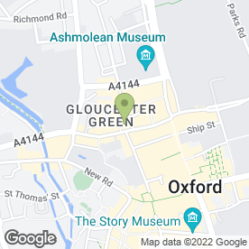 Map of STA Travel Ltd in Oxford, oxfordshire