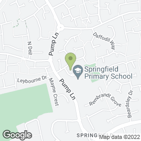 Map of Springfield Stars Pre-School in Chelmsford, essex